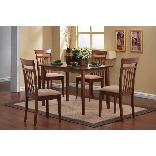Casual Chestnut Five-piece Dining Set