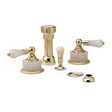 VERSAILLES Four Hole Bidet Set K4243 - Polished Brass