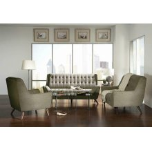 Natalia Mid-century Modern Dove Grey Loveseat
