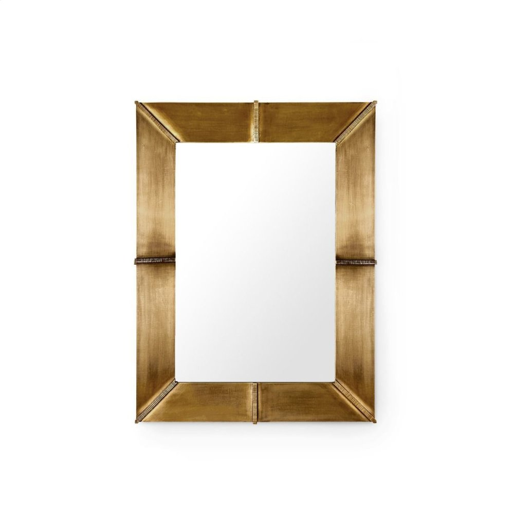 Brea Mirror, Antique Brass