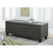 OLIVE LINEN BENCH W/STORAGE Product Image