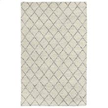 Diamond Looped Wool Ivory 2x3