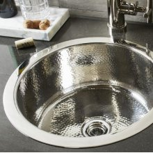 Round Stainless Bar Sink