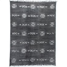 9'x12' Size Tribal Faded Black Rug