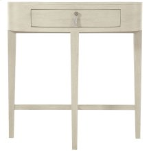 East Hampton Oval Nighstand in Cerused Linen (395)