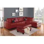 RED STORAGE OTTOMAN Product Image