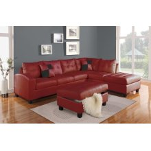 RED STORAGE OTTOMAN