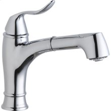 Elkay Explore Single Hole Bar Faucet with Pull-out Spray Lever Handle Chrome
