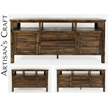 """Artisan's Craft 50"""" Media Console - Dakota Oak"""