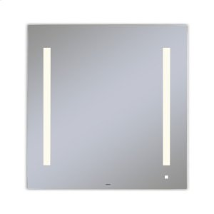 """Aio 29-1/8"""" X 29-7/8"""" X 1-1/2"""" Lighted Mirror With Lum Lighting At 2700 Kelvin Temperature (warm Light), Dimmable, Usb Charging Ports and Om Audio Product Image"""