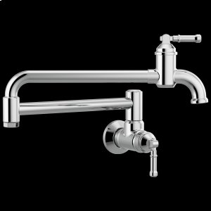 Chrome Wall Mount Pot Filler Product Image