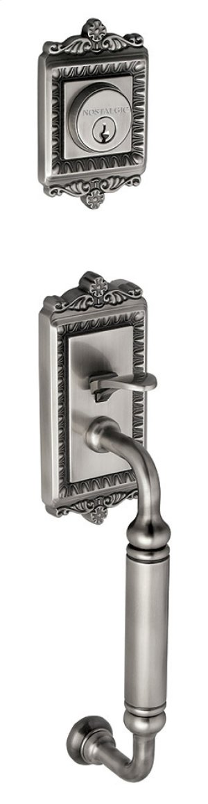 Nostalgic - Handleset Exterior Half - Egg and Dart with C-Grip in Antique Pewter Product Image