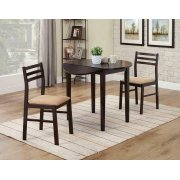 Casual Cappuccino Three-piece Dining Set Product Image