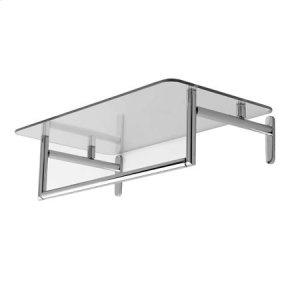 "Polished Chrome 24"" Hotel Shelf with Towel Bar Product Image"