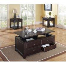 ESPRESSO COFFEE TABLE W/LIFT