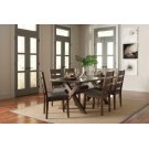 Alston Rustic Trestle Five-piece Dining Set Product Image