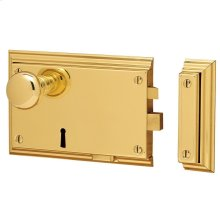 Lifetime Polished Brass 5636 Bevelled Rim Lock