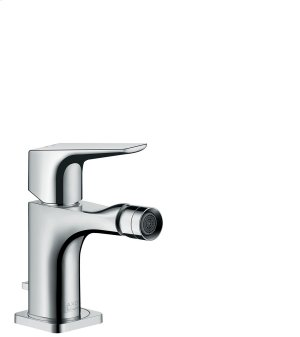 Chrome Single lever bidet mixer with lever handle and pop-up waste set Product Image