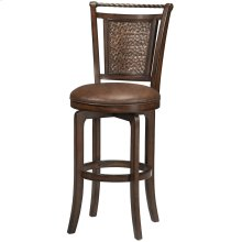 Norwood Swivel Bar Height Stool - Bown Cherry