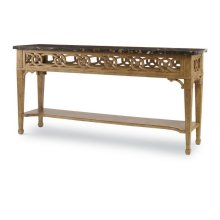 Georgian Pierced Apron Console With Marble Top