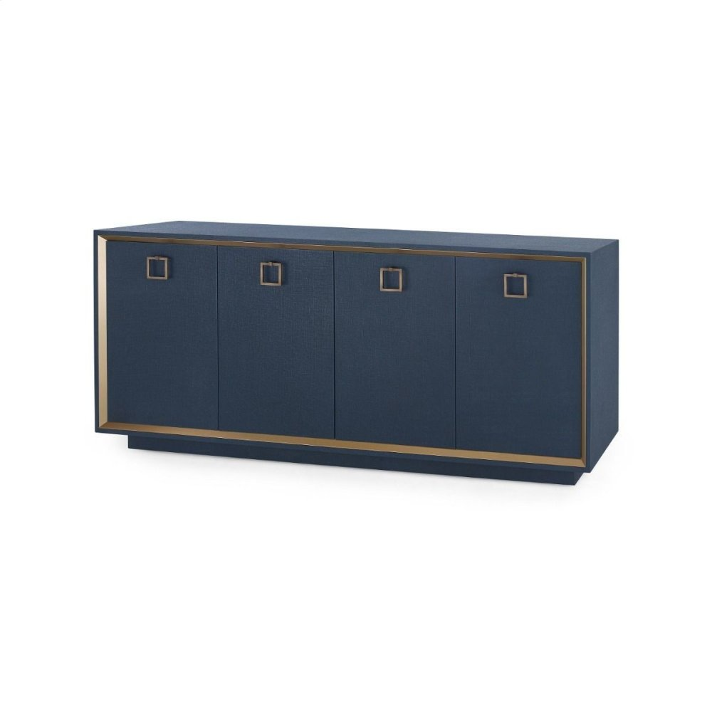 Ansel 4-Door Cabinet, Navy Blue