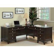 Garson Cappuccino L-shaped Office Desk