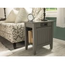 Nantucket Chair Side Table with Charger Atlantic Grey Product Image