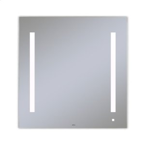 """Aio 29-1/8"""" X 29-7/8"""" X 1-1/2"""" Lighted Mirror With Lum Lighting At 4000 Kelvin Temperature (cool Light), Dimmable, Usb Charging Ports and Om Audio Product Image"""