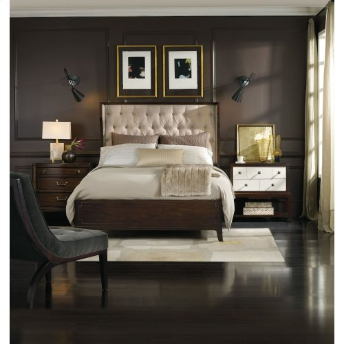 Bedroom Palisade Upholstered Shelter King Bed - Taupe Fabric