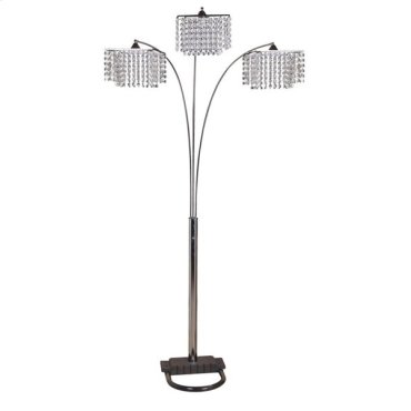 """CHANDELIER FLOOR LAMP, 84""""H"""