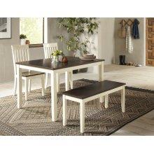 Decatur Lane 4pack Dining Set - Autumn Brown/white