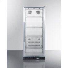Commercial Beverage Merchandiser With 11 CU.FT. Capacity, Ss Interior, Self-closing Door, Digital Thermostat, and Ss Wrapped Cabinet