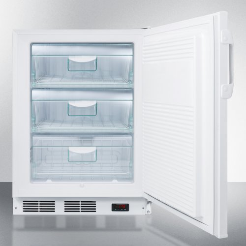 ADA Compliant Freestanding Medical All-freezer Capable of -25 C Operation, With Removable Basket Drawers