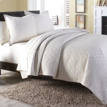 3 pc Queen Coverlet/Duvet Set Linen