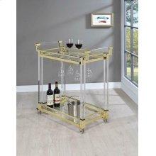 Modern Clear Acrylic Serving Cart