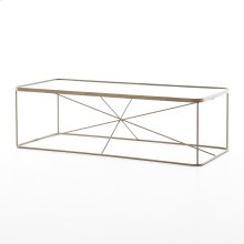Lucas Coffee Table-antique Brass