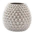 Pinecone Short Vase Antique Silver Product Image