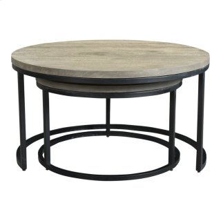Drey Round Nesting Coffee Tables Set Of 2