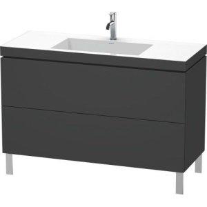 Furniture Washbasin C-bonded With Vanity Floorstanding, Graphite Matt (decor)