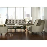Natalia Mid-century Modern Dove Grey Two-piece Living Room Set Product Image