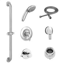 Commercial Shower System with Slide Grab Bar and Hand Shower for Flash Rough Valve - 2.5 GPM  American Standard - Polished Chrome