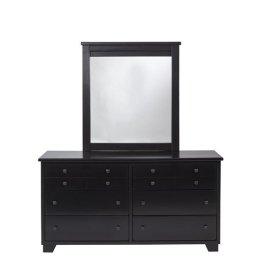 Dresser \u0026 Mirror - Black Finish