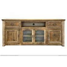"""80"""" TV Stand w/ 2 Drawers & 4 Doors"""
