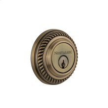 Nostalgic - Double Cylinder Deadbolt Keyed Differently - Rope in Antique Brass