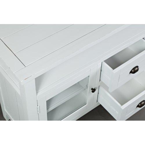 Artisan's Craft Storage Console - Weathered White