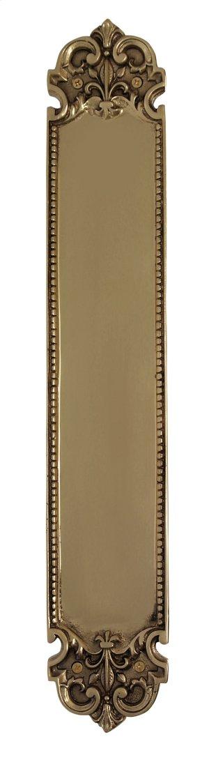 Nostalgic Warehouse - San Francisco Pushplate in Polished Brass Product Image