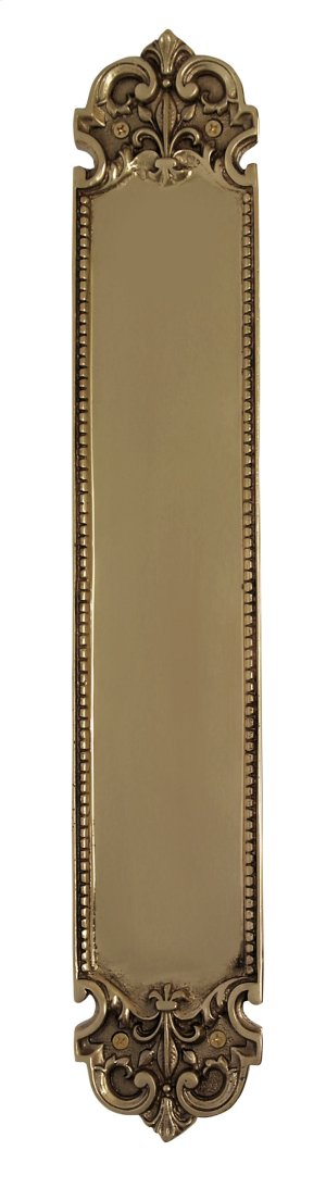 Nostalgic Warehouse - San Francisco Pushplate in Polished Brass Product Image
