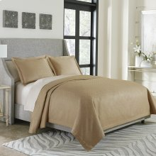 3pc King Bed Throw Set Gold