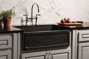 New Haven Farmhouse Sink Honed Basalt Product Image