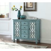 French Country Antique Blue Accent Cabinet Product Image